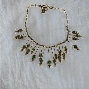 Jewelry - Bcbg gold/emerald starburst necklace